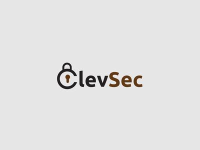 Clevsec creative minimal modern brand mark design logo