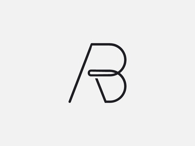 AB designer illustrator adobe drawing graphic creative minimal modern brand mark design logo