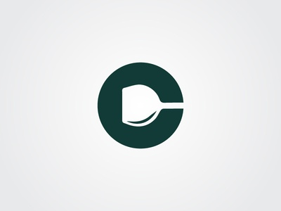 C Letter - Negative space logo identity corporate branding designer illustrator graphic creative minimal modern mark design logo