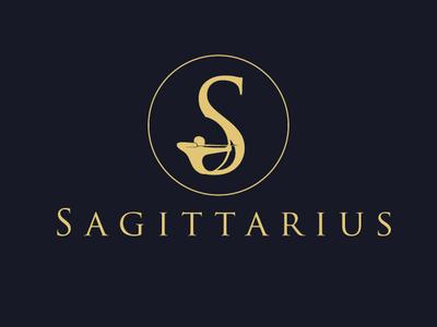 Sagittarius icon identity adobe corporate drawing branding brand designer illustrator minimal graphic logo modern mark creative design