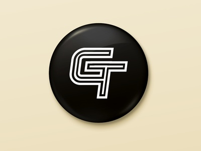 GT corporate vector caligraphy typography icon identity drawing branding brand designer illustrator graphic minimal mark modern creative logo design