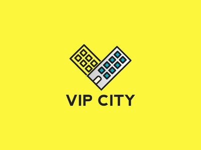 Vip City identity icon app adobe illustration game typography brand drawing corporate branding designer illustrator graphic minimal mark modern creative logo design