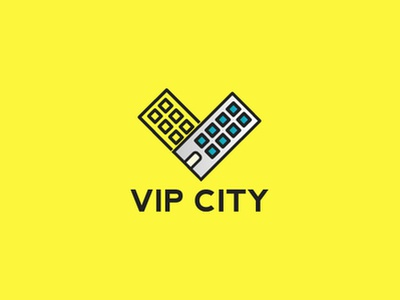 Vip City identity icon app adobe illustration game typography brand drawing corporate branding designer illustrator graphic minimal mark modern creative logo design