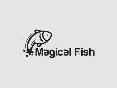 Magical Fish app illustrate drawing identity adobe typography illustration icon branding corporate designer brand illustrator logo graphic minimal mark modern creative design