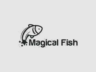 Magical Fish app illustrate drawing identity adobe typography illustration icon branding corporate designer brand illustrator logo graphic minimal mark modern creative design