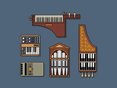 Instruments design icon illustration
