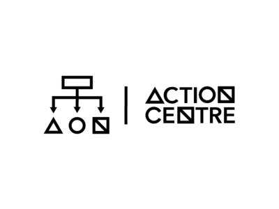 Action Centre branding identity logo