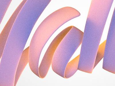 Sneak peek 1 typography bubblegum 3d caligraphy lettering script