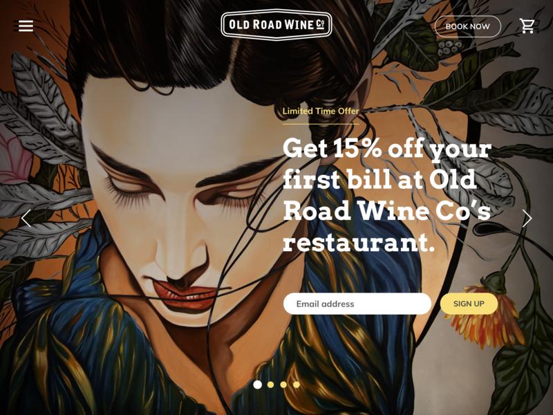 Old Road Wine Co. Website identity wine website ui