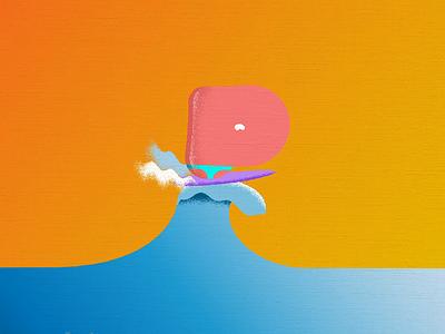 Summertime Shreddin Master P summer loop shred illustraion motion surfing