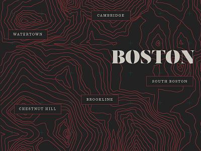Boston Topography sentinel salome line map topography massachusetts boston