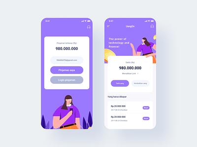 Home page design ui