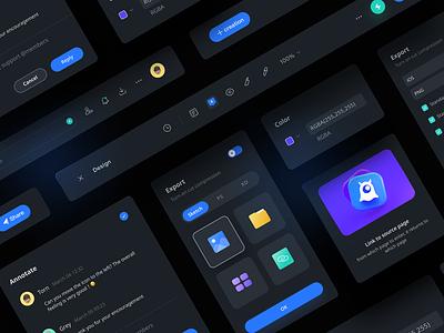 Lanhu 3.0 dark UI desin web design dark design ux ui