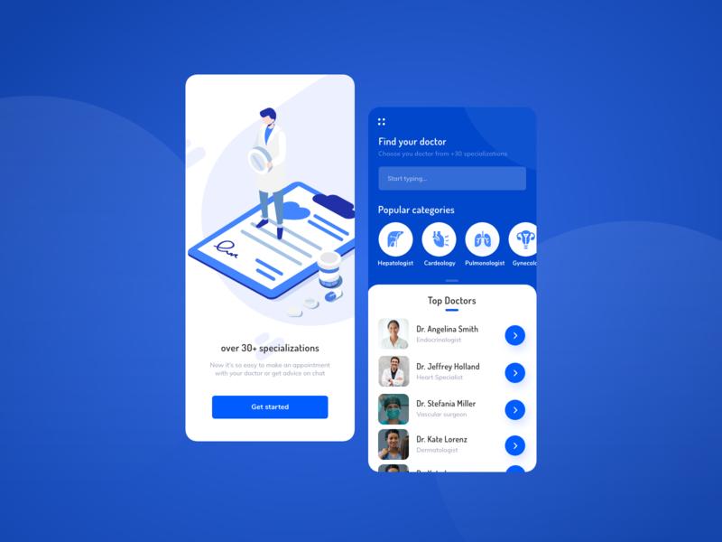 medical app branding illustration design ui dashboard doctor medical care medical app medicine medical