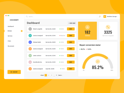 dashboard mechanics app