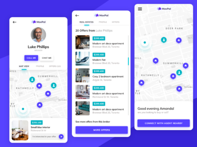real estate app that connects agents with clients