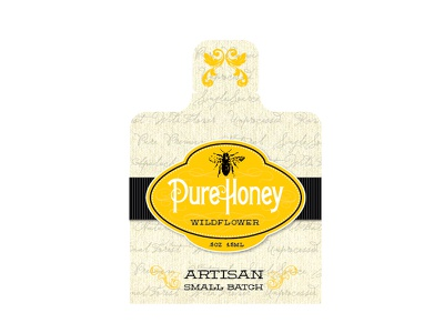 Pure Honey Packaging honey packaging gold artisan