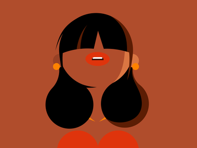 character hair woman affinity character vector illustration