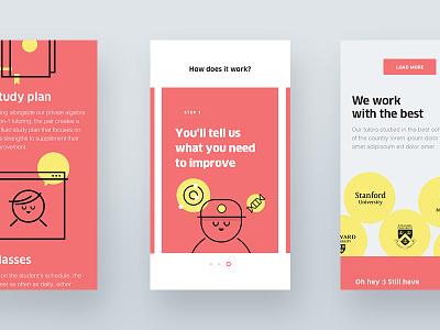 TTP Mobile illustration ux visual design ui responsive tutoring ttp mobile