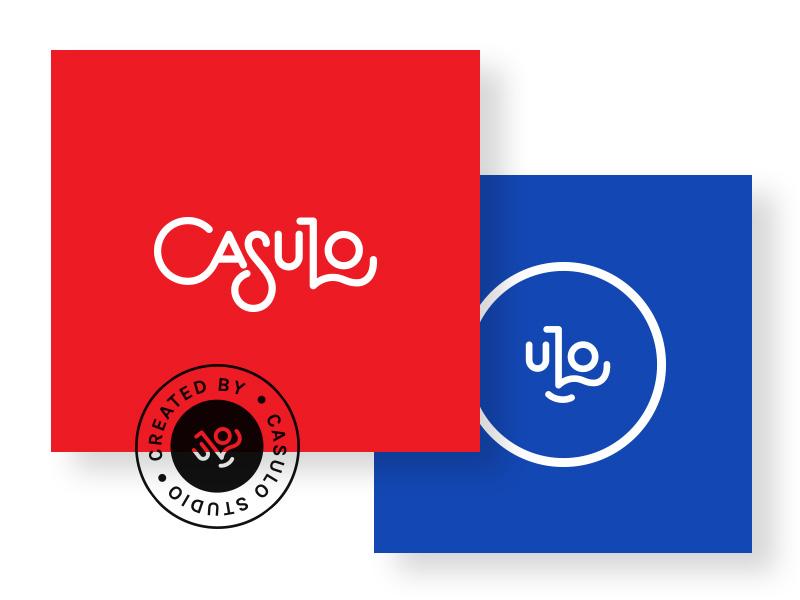 Logo Casulo logotype identity vector flat blue red brand branding logo