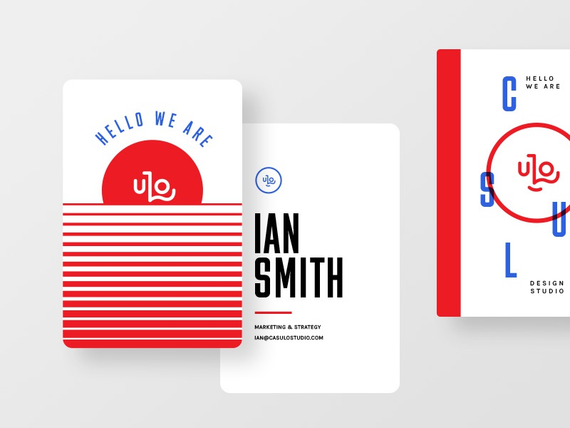 Business Cards logotype identity vector flat blue red brand branding logo