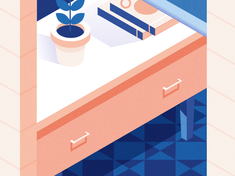 Window Detail window vector house isometric illustration blue