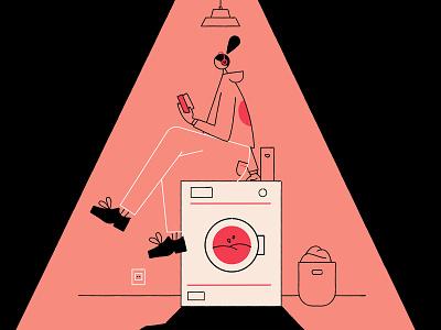Laundry laundry character vector illustration