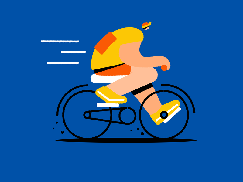 Cyclist affinitydesigner affinity tour cycling bicycle bike character vector illustration