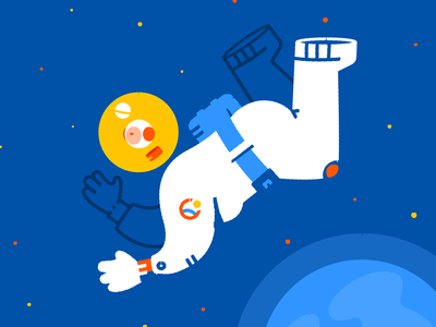 Space woman nasa planet astronaut space character vector illustration