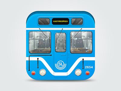 Tunnelbanan ios iphone ipad icon stockholm subway train window