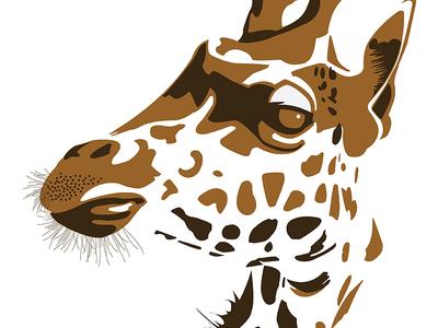 Vector Giraffe Poster/Screen Print