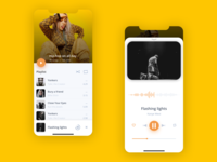 Music app UI minimal figma clean mobile music app music player interface ux inspiration ui