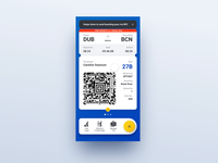 Bubble Sending Boarding Pass via NFC