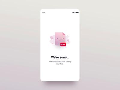 Mandatory Reads - Error Screen error empty state animation illustration ui detail minimal mobile