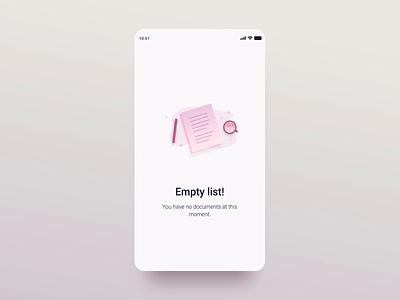 Mandatory Reads - Empty List document coffee empty state animation ui illustration minimal mobile