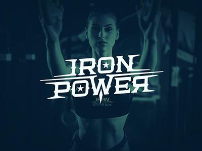 "Lettering logo ""Iron Power"" vector logo print branding design type typography calligraphy lettering"