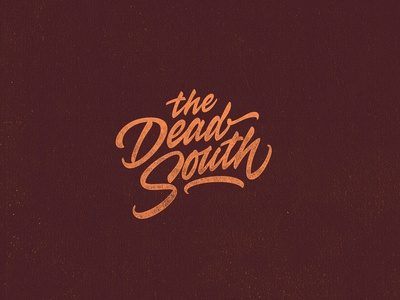 The death south. Lettering for a print on clothes