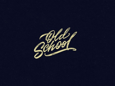 old school - print for t-shirt