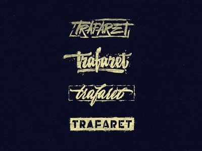 "Logo ""Stencil"" in cyrillic brand design logodesign branding vector design logo"