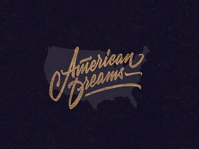 American Dreams vector branding print logo design t-shirt typography type calligraphy lettering