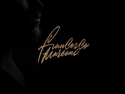 Francesco Marconi - signature logotype branding calligraphy vector typography design logo lettering