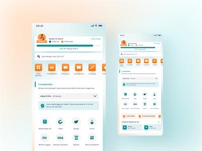 Ruangguru Redesign 2020 blurred background blurred redesign minimal app ui design