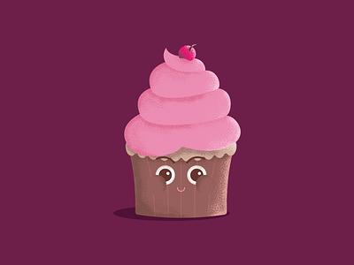 Cupcake character design illustration graphic design