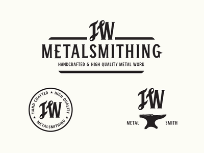 JW Metalsmith Logo Options winston sans winston vintage anvil monogram logo metalsmith