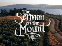 The Sermon on the Mount Lettering