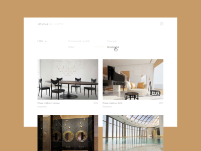 Website for architecture studio