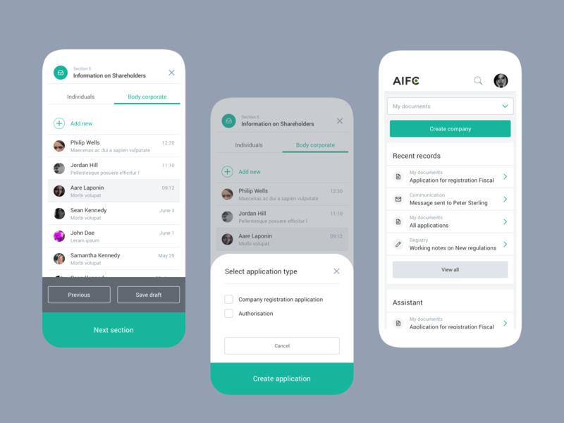 A web app for Astana International Finance Center