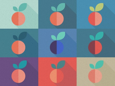 Fruits flat design flatdesign 2d illustration fruits logo userinterface ui branding pattern