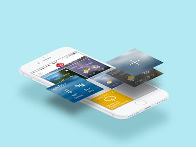 Wetter Alarm app swiss ios app mobile ios digital screen interaction interface visual productdesign ux userexperience design