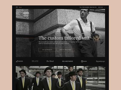 Suitart website web typography switzerland st.gallen zurich uidesign visual styleguide suits swiss minimal sexy classy stylish